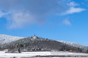 Winter Schnee Burrweiler Kapelle