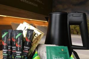 Zubereitung von Kaffee und Tee aus den Zimmern