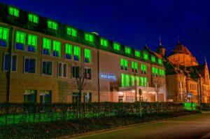 Aussenbeleuchtung Parkhotel Landau